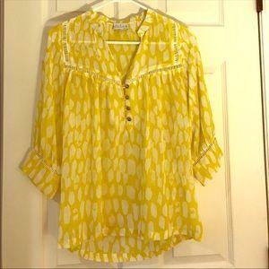 Beautiful yellow blouse by Dolan